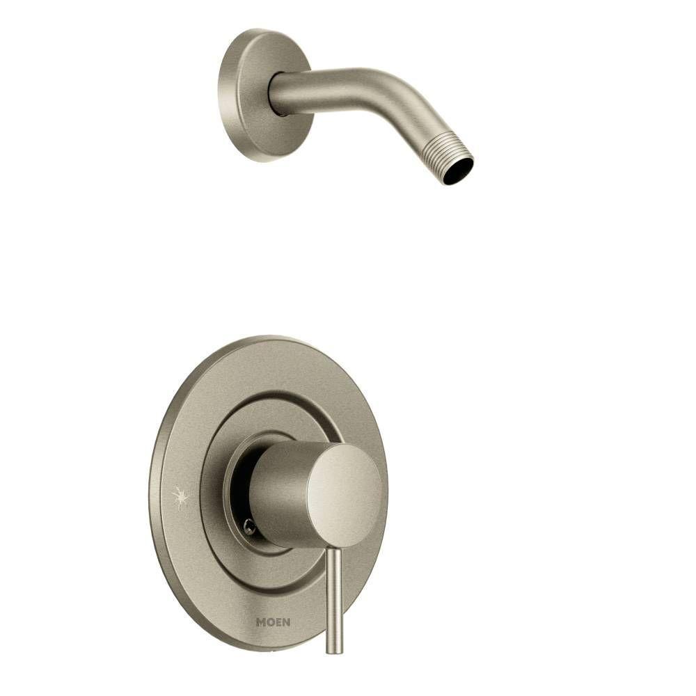 MOEN Align Single-Handle Posi-Temp Shower Faucet Trim Kit in Brushed ...