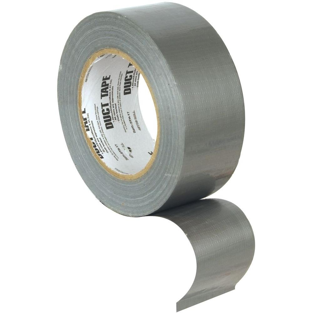 roberts 1 7 8 in wide duct tape indoor silver general purpose 60 yd 50 555 the home depot. Black Bedroom Furniture Sets. Home Design Ideas