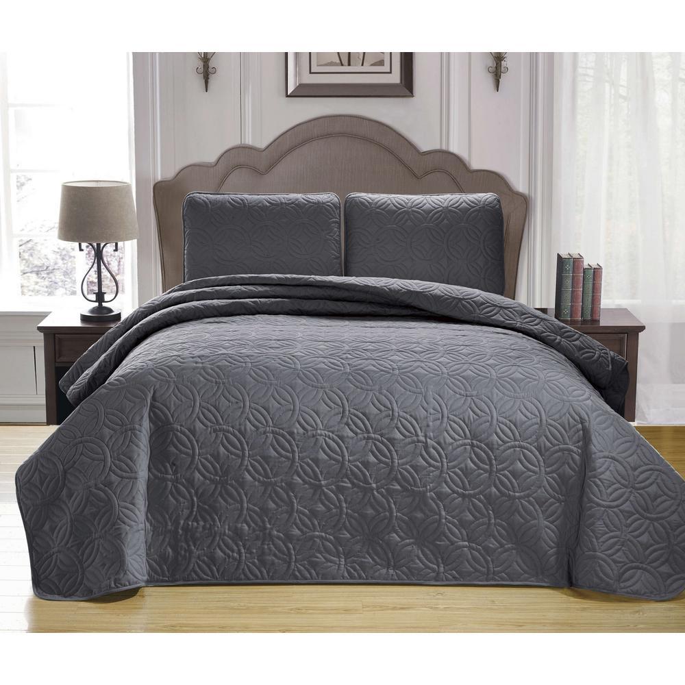 Kennelly Green King Bedspread Set