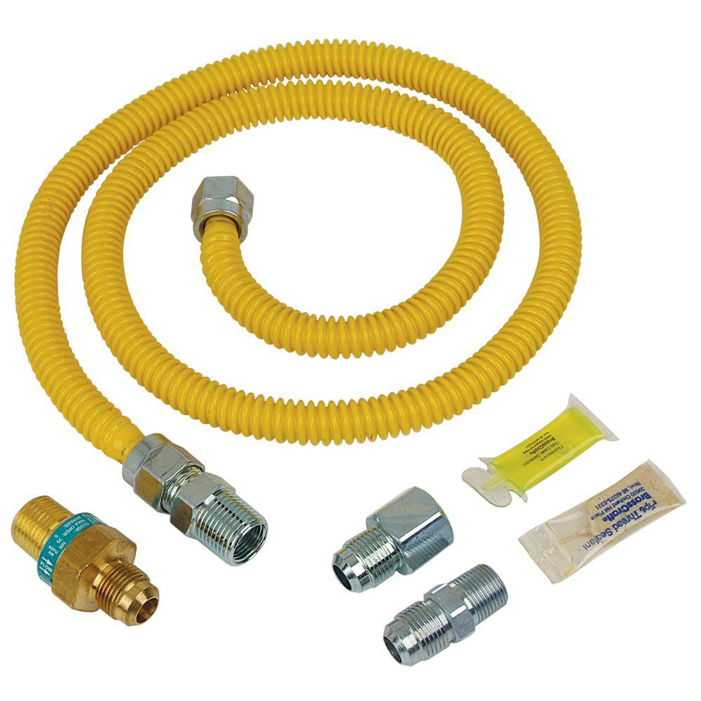 Brcraft Safety Plus Gas Installation Kit For Dryer And Range 60 500 Btu
