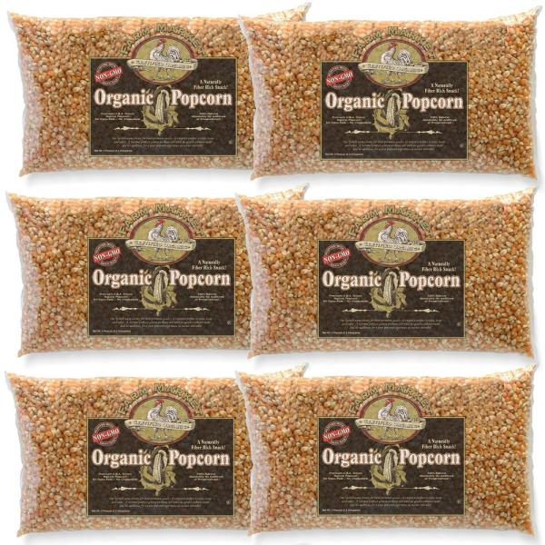 5 lb. All-Natural Organic Yellow Gourmet Popcorn (6-Pack)