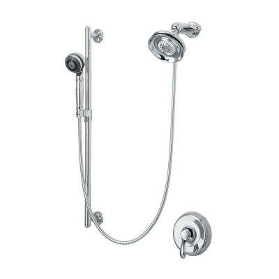 Fairfax 3-Spray Round Performance Showering Package in Polished Chrome (Valve Not Included)