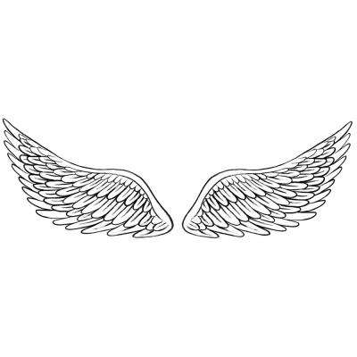 White and Off-White Angelic Decal Wall Art Kit