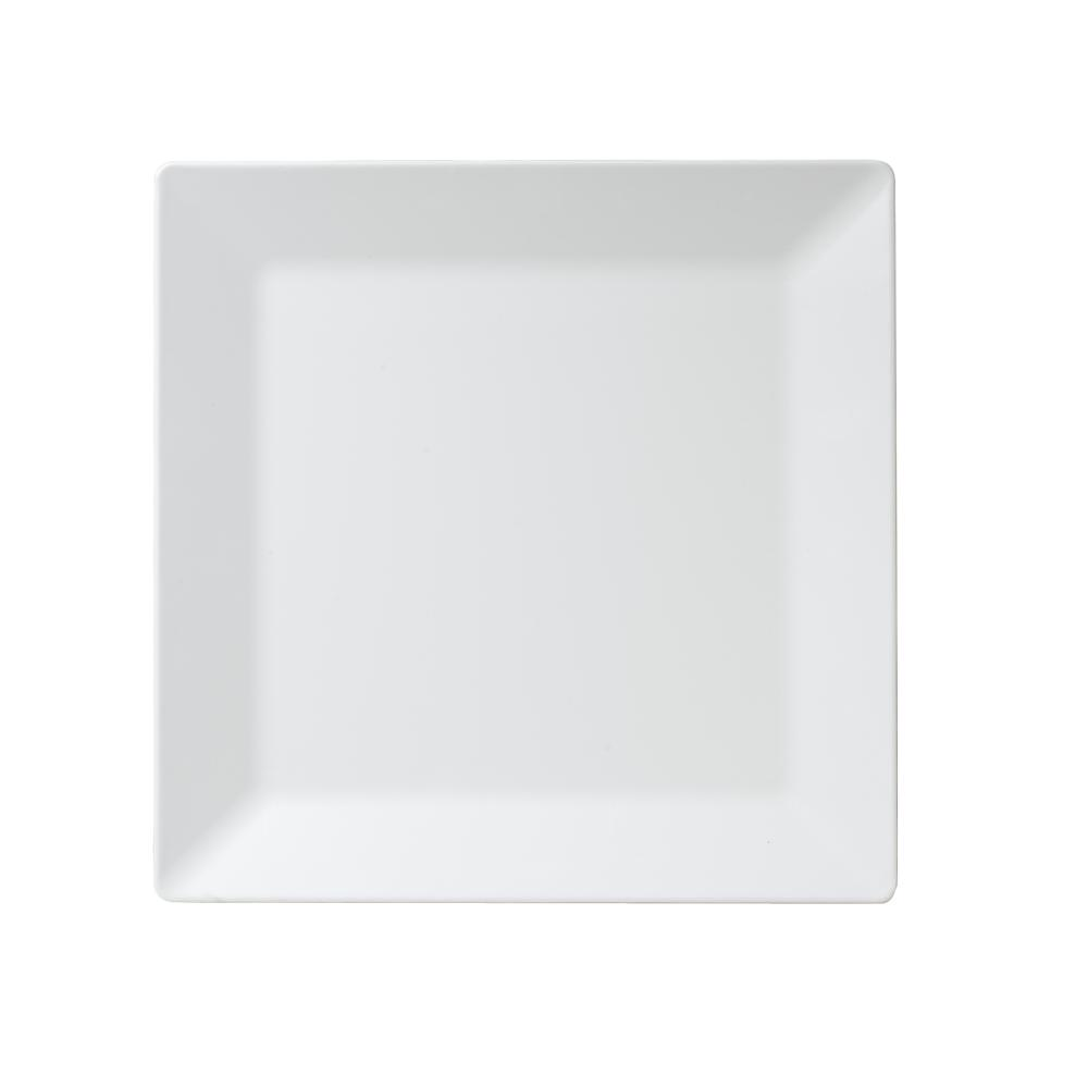 Diamond Square 14.5 in. Melamine Serving Platter in White