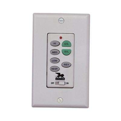 Satin 1 in. White Ceiling Fan Wall Control