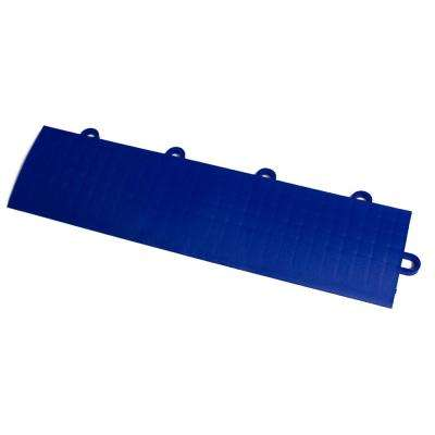 12 in. x 3 in. Royal Blue Modular Edging Kit Female Garage Flooring (22-Piece, Includes 2 Corner Edges)