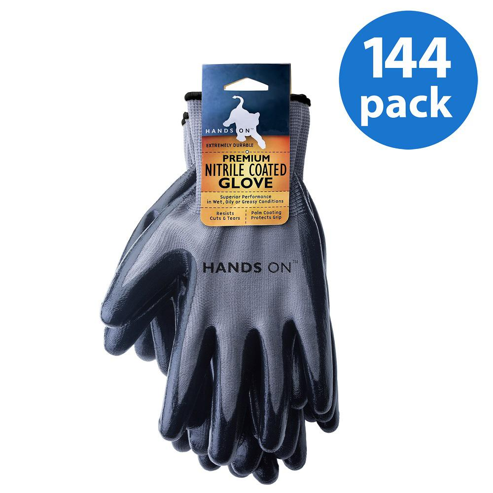 Construction Gardening Mechanic Glove 3 Pairs Working Smooth Nitrile Gloves