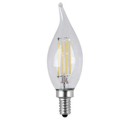 40W Equivalent Soft White CA10 Dimmable Clear Filament LED Candelabra Base Light Bulb (Case of 48)
