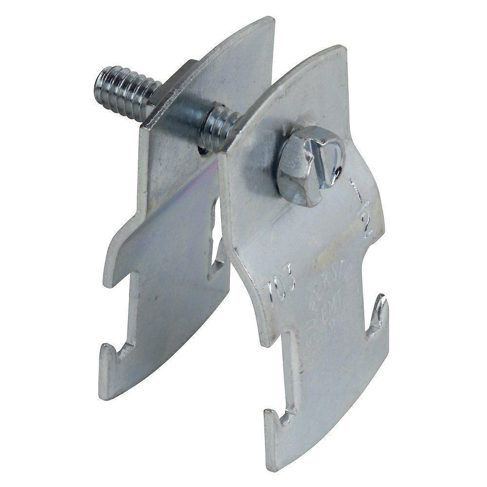1 in. Universal Strut Pipe Clamp - Silver Galvanized