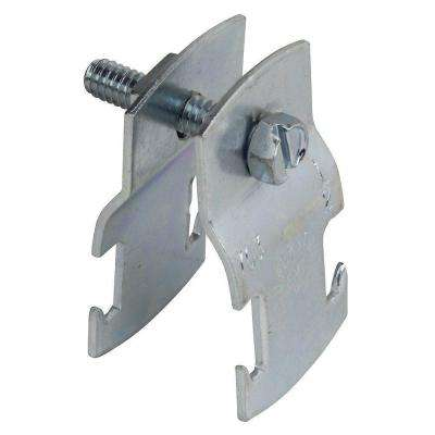 1 in. Universal Pipe Clamp - Silver Galvanized