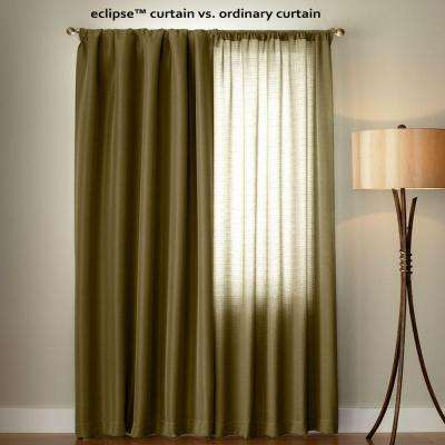 Suede Blackout Gold Curtain Panel, 95 In. Length