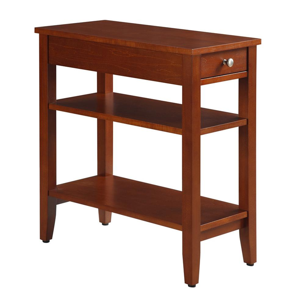Beau Convenience Concepts American Heritage 3 Tier Cherry End Table