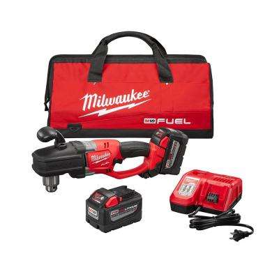 M18 FUEL 18-Volt Lithium-Ion Brushless Hole Hawg 1/2 in. Cordless Right Angle Drill High Demand 9.0Ah Kit