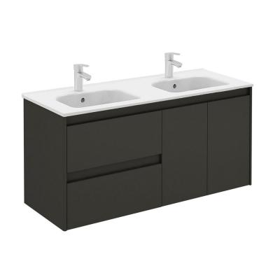 47.5 in. W x 18.1 in. D x 22.3 in. H Bathroom Vanity in Anthracite with Vanity Top and Basin in White