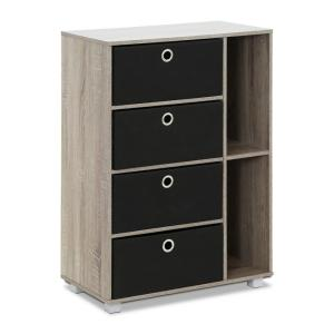 French Oak Grey and Black Storage Chest