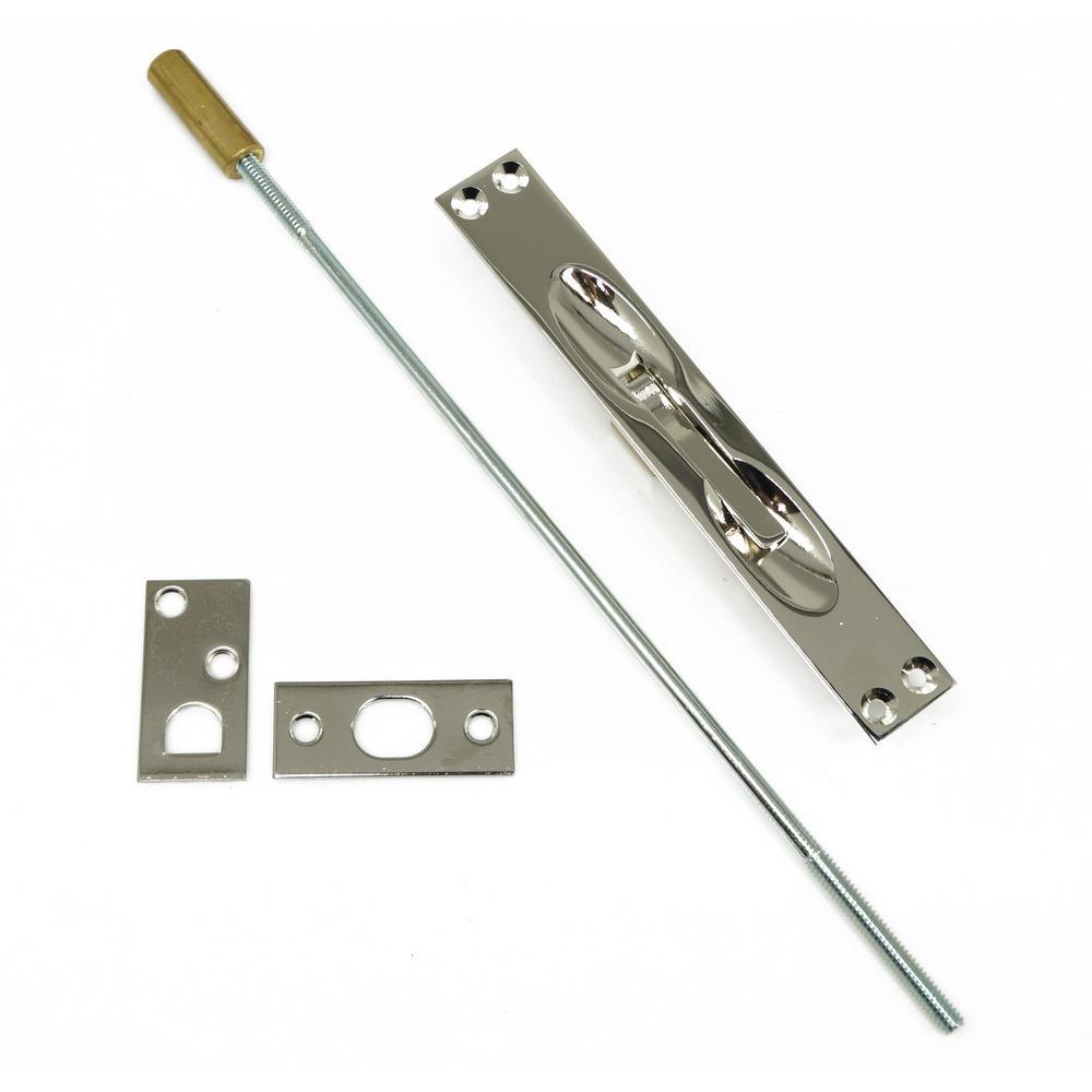 Solid Brass Extension Flush Bolt in Bright Nickel