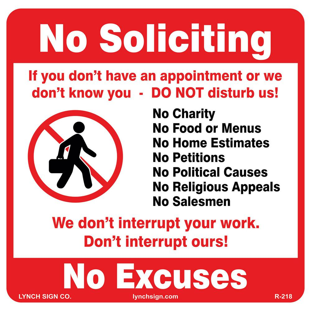 No Soliciting Signs For Home Taraba Home Review