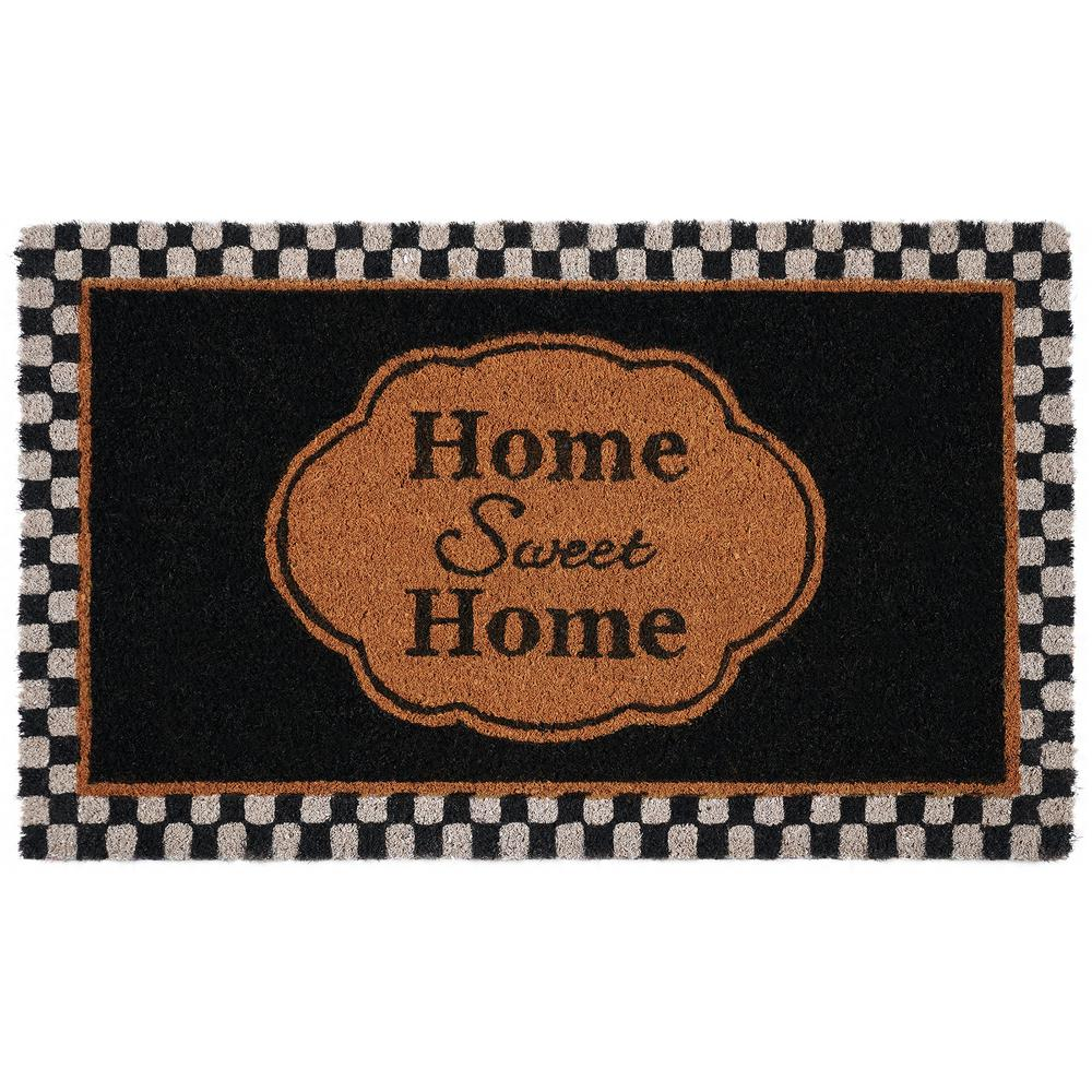 Achim Sweet Home 18 In X 30 In Printed Coir Door Mat