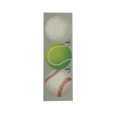 Summer Sports Decorative Bathroom Sink Stopper Laminates (Set of 3)