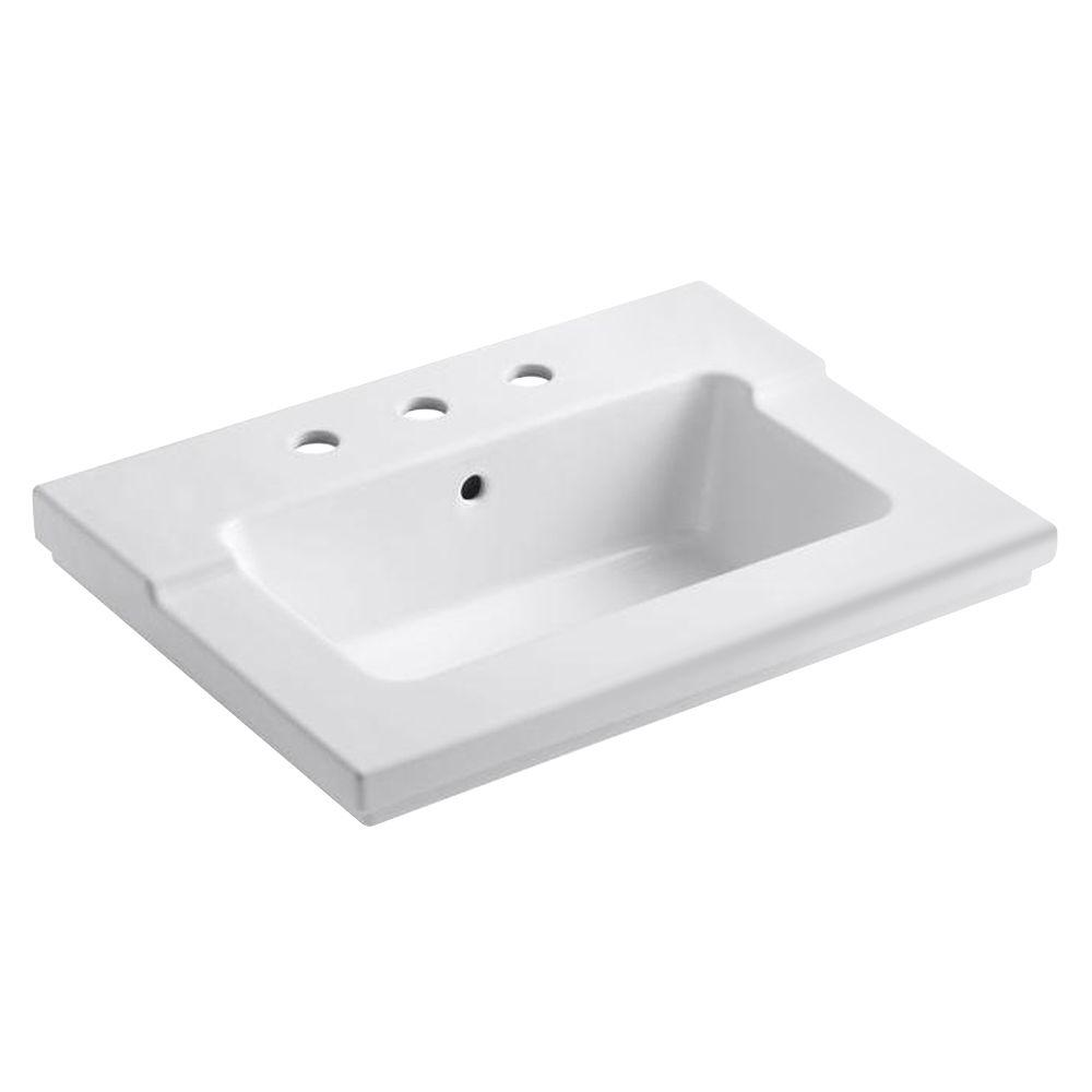 Kohler Tresham 25 7 16 In Vanity Top White