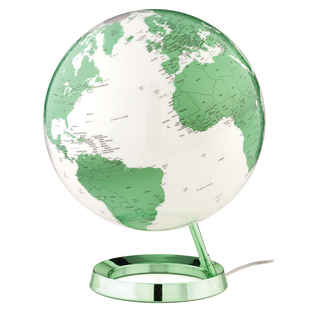 Light and Color 12 in. Designer Series Hot Green Desktop Globe