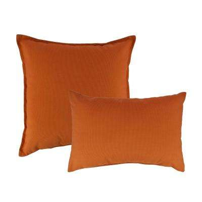 Canvas Tangerine Combo Outdoor Pillow