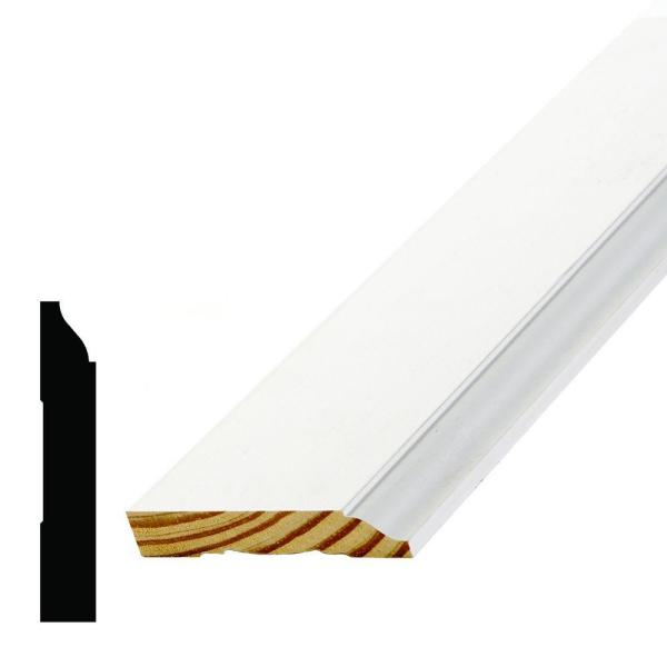 WM 623 9/16 in. x 3-1/4 in. x 96 in. Primed Pine Finger-Jointed Base Moulding