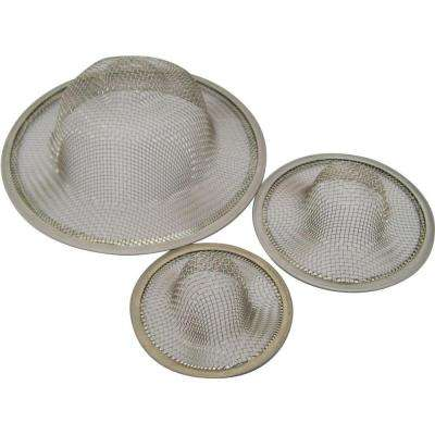Stainless Steel Mesh Strainers for Drains (3-Pack)