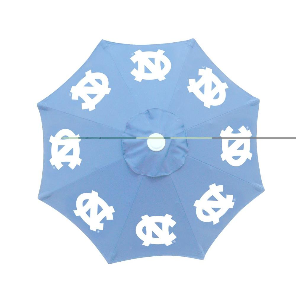 9 ft. University of North Carolina Blue Patio Umbrella