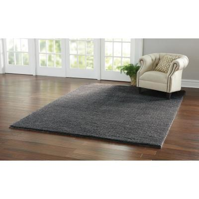 Ethereal Shag Graphite Charcoal 7 ft. x 10 ft. Indoor Area Rug
