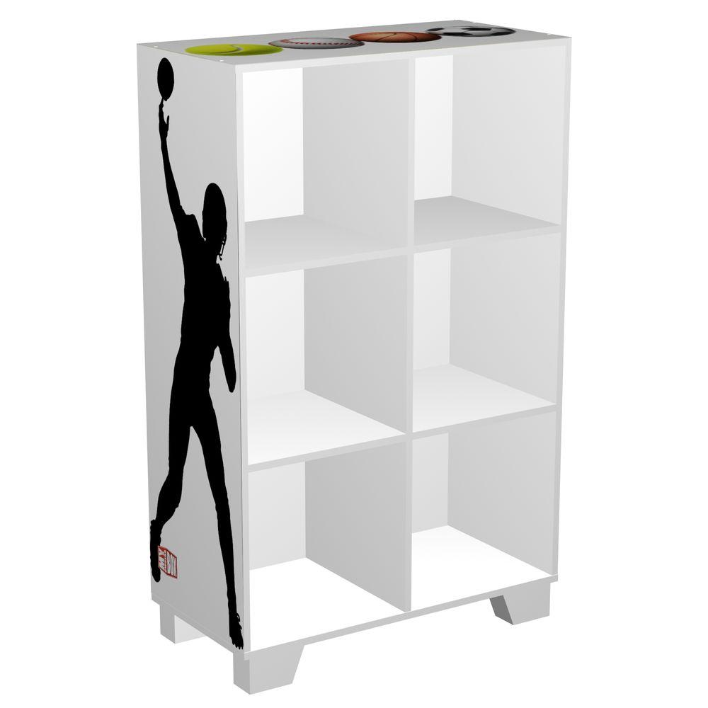 MyOwnersBox Sports Cubeits 24 in. x 36 in. White 6-Cube Organizer