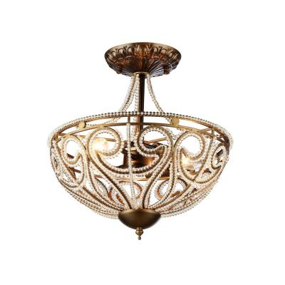 Drake Modern Roman 3-Light Antique Bronze Indoor Chandelier with Shade
