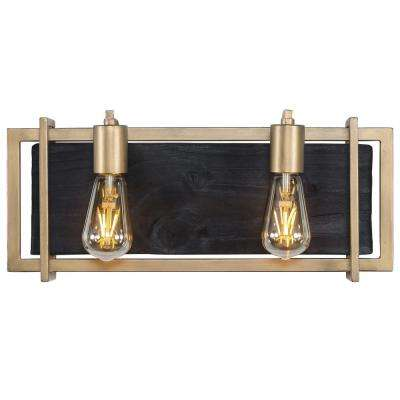 Madeira 2-Light Rustic Gold Bath Light