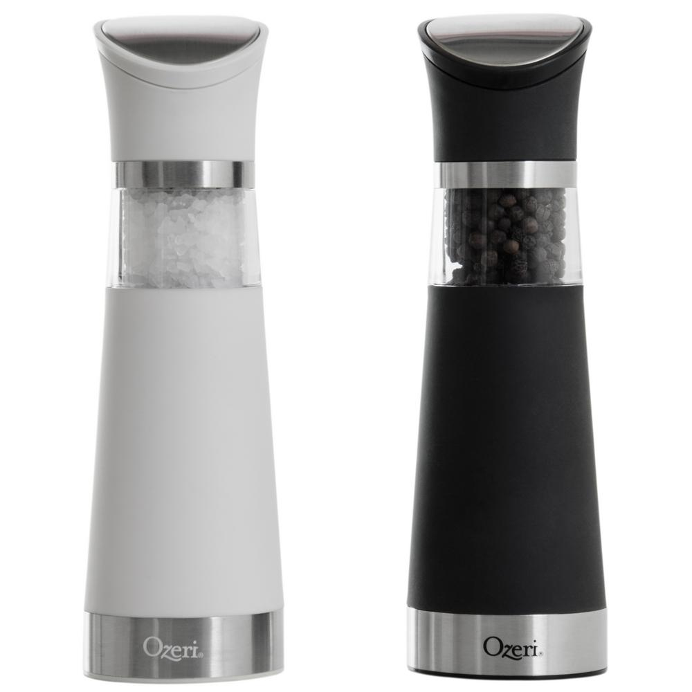 ozeri graviti pro electric salt and pepper grinder set bpa free ozg8 the home depot. Black Bedroom Furniture Sets. Home Design Ideas