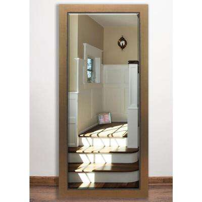 31.5 in. x 35 in. Golden Lowe Beveled Full Body Mirror