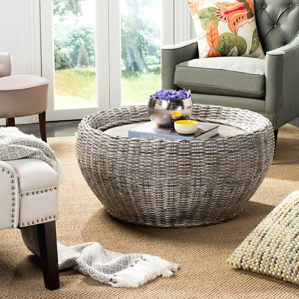 Safavieh Alley Wood Top Summer Gray And White Wash Coffee Table WIK6504A    The Home Depot