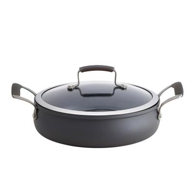 4 Qt. hard Anodized Sauteuse with Lid