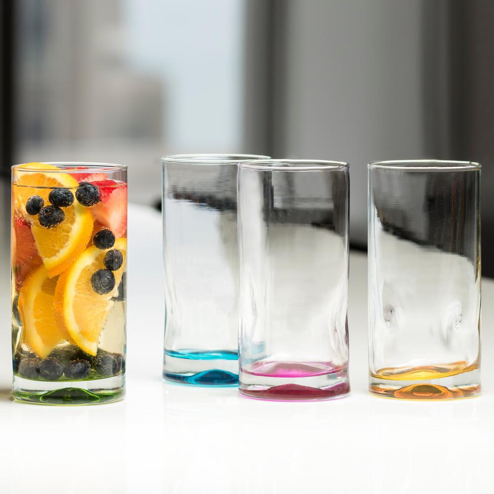 Impressions Colors 16.5 oz. 4-piece Cooler Glass Set