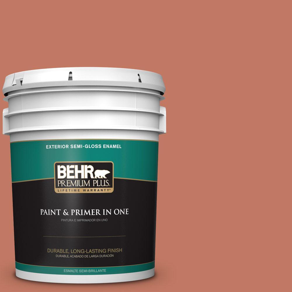 5 gal. #MQ1-26 Pinata Semi-Gloss Enamel Exterior Paint and Primer in