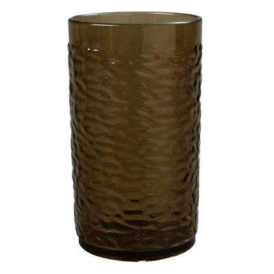 16 oz. SAN Plastic Pebble Optic Tumbler in Smoke (Case of 24)