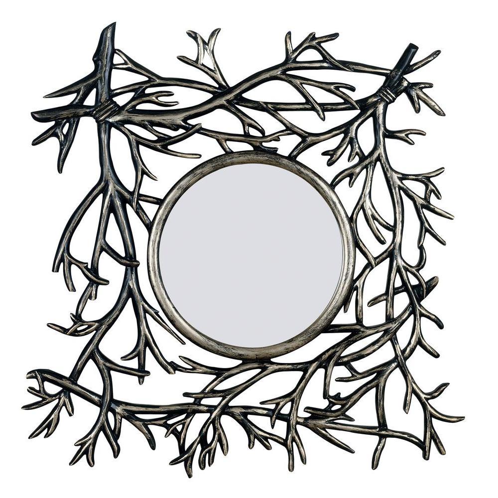 Home Decorators Collection Bramble 29 sq. in. Polyurethane Framed Mirror