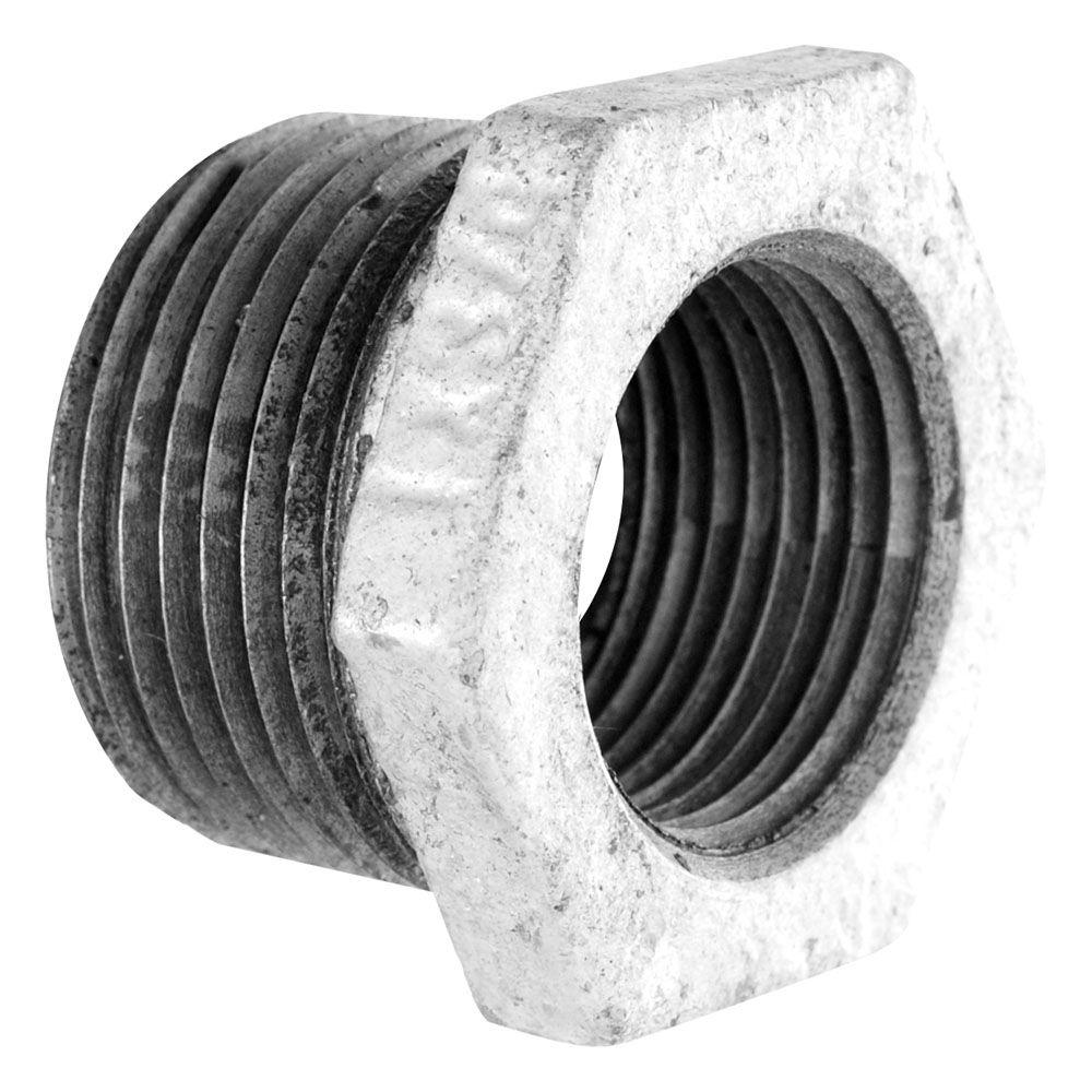 LDR Industries 3/4 in. x 1/2 in. Galvanized Iron MPT x FPT Bushing