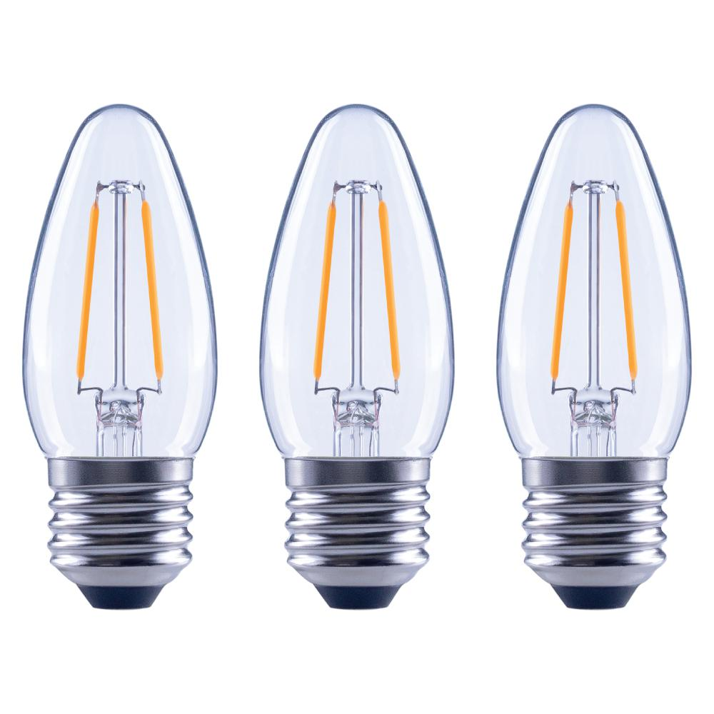 Ecosmart 40w Equivalent Soft White B11 Dimmable Filament: EcoSmart 25-Watt Equivalent B11 Dimmable Energy Star Clear