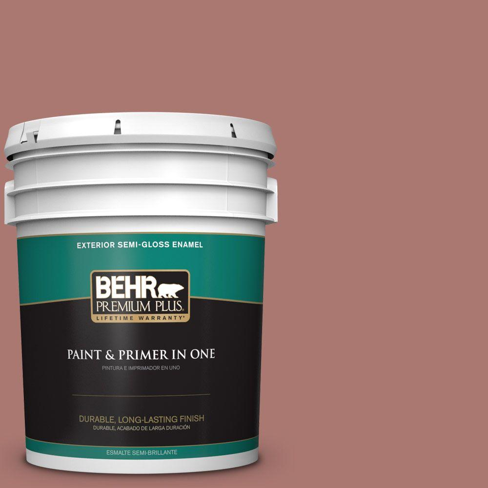 5-gal. #160F-5 Rum Spice Semi-Gloss Enamel Exterior Paint