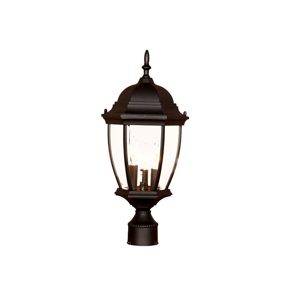 Acclaim Lighting Wexford 3 Light Matte Black Outdoor Post Mount Fixture