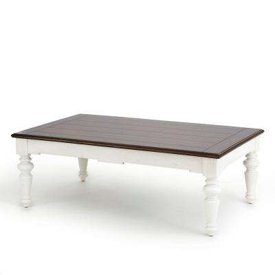 Wesley Walnut And White Cottage Style Tail Table