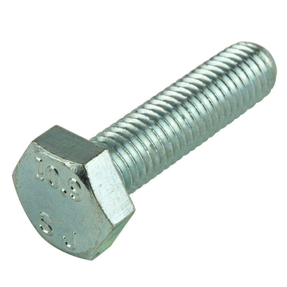 M6 x 40 mm Zinc-Plated Steel Hex-Head Cap Screws (2 per Bag)