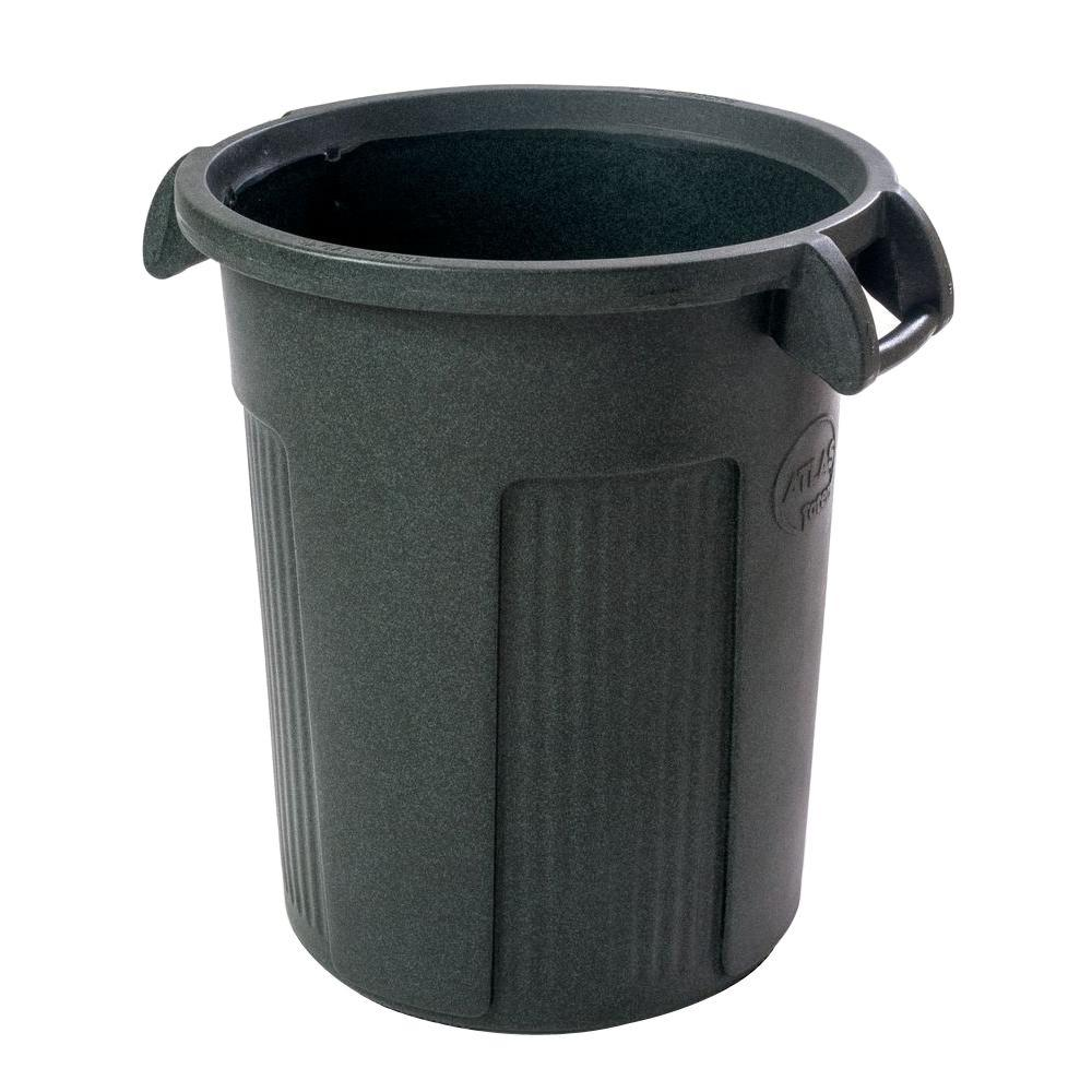 32 Gal. Dark Green Round Trash Can