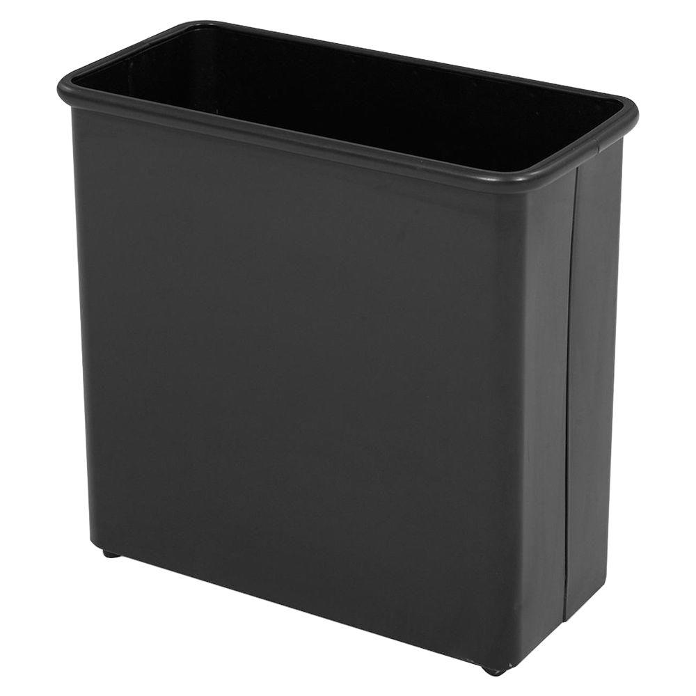 Aluminium Garbage Cans : Safco gal black rectangular fire safe heavy duty trash