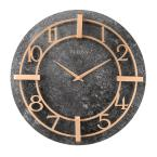 Retro Classic Granite Tone 16 in. Round Wall Clock